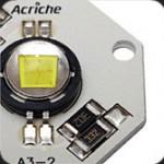 Eksempel på lysdiode -aktuel størrelse for selve dioden er ca. ø4mm
