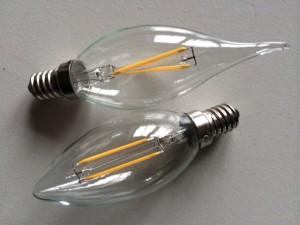 Samme størrelse som konventionelle pærer - ikke længere klodsede som de fleste andre LED-pærer på markedet!