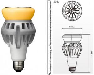 Retrofit lyskilder til erstatning af kviksølvpærer op til 150W
