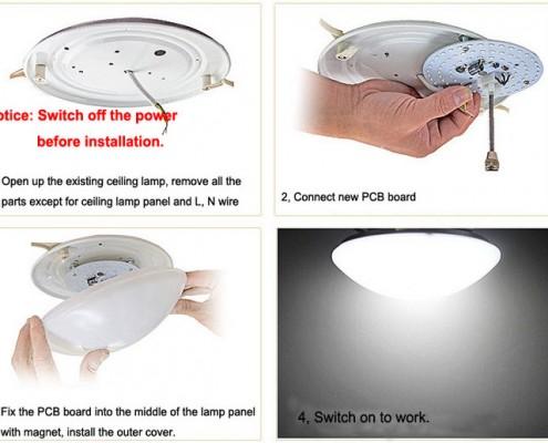 ombygning til LED på 5 minutter